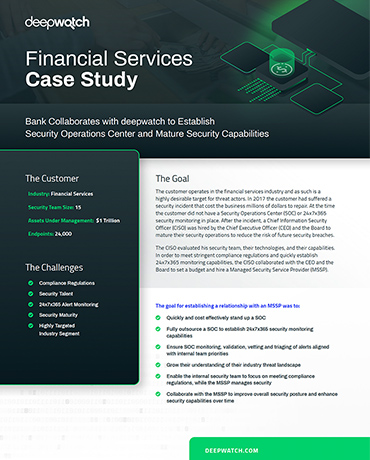 deepwatch Financial Services Case Study Cover